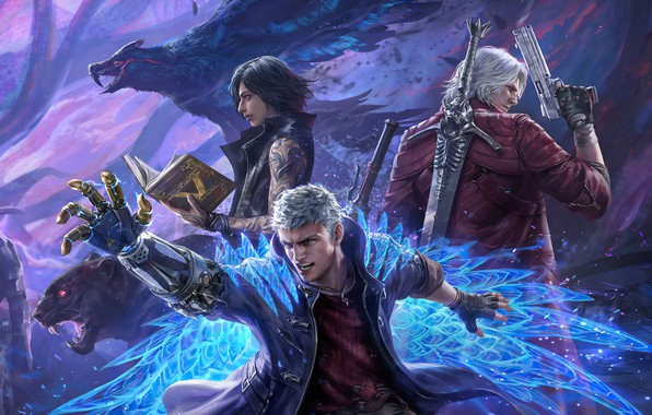 Картинка Dante, Capcom, Nero, Devil May Cry, Devil May Cry 5