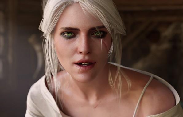 Картинка Взгляд, The Witcher 3 Wild Hunt, Ведьмак 3 Дикая Охота, Цири, Цирилла, Cirilla