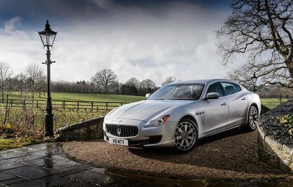 Картинка капли, Maserati, фонарь, Quattroporte S