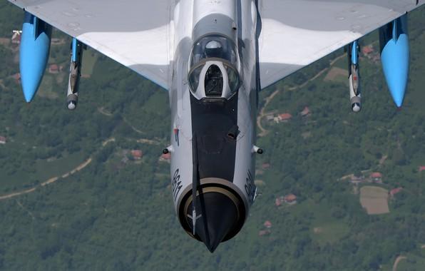Картинка Истребитель, Ракеты, Пилот, МиГ-21, ОКБ Микояна и Гуревича, Кокпит, ВВС Румынии, ПТБ