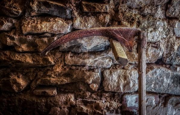 Картинка стена, серп, натурализм