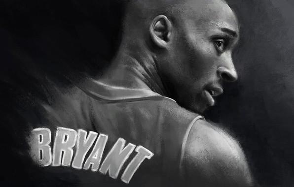 Картинка Art, Legend, NBA, Kobe Bryant, Basketball, Kobe, Los Angeles Lakers, Black Mamba, Drawing, Mamba