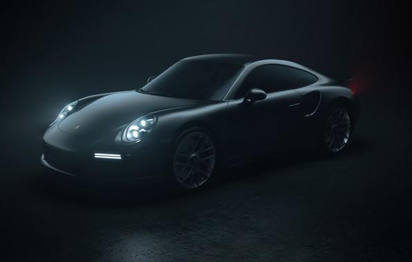 Картинка Авто, 911, Porsche, Машина, Серый, Porsche 911, Рендеринг, Turbo S, Porsche 911 Turbo S, Transport ...