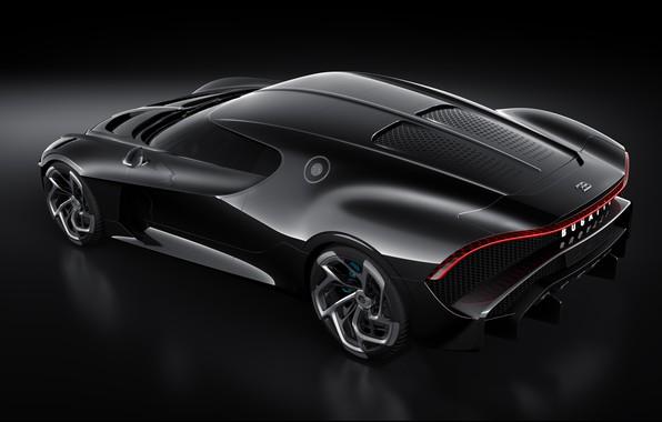 Картинка машина, Bugatti, фонарь, диски, стильный, гиперкар, La Voiture Noire