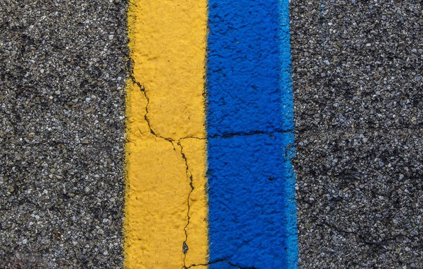Фото обои дорога, цвет, линия