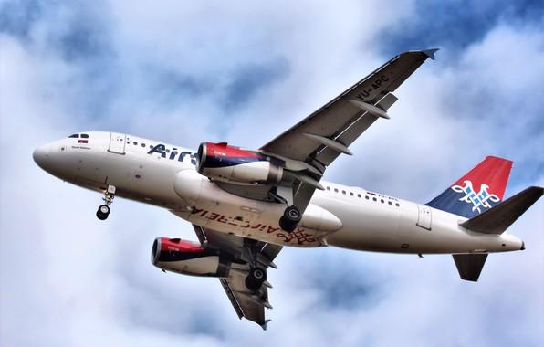 Картинка aircraft, Airbus, споттинг, Своё фото, A319-100, YOUR PHOTO, SVO, Air Serbia, YU-APC, YU-APC Air Serbia …
