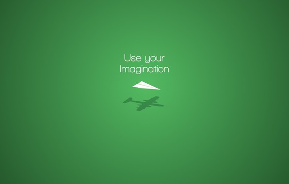 Картинка aircraft, minimalism, plane, digital art, artwork, imagination, simple background, green background, motivational, Paper plane
