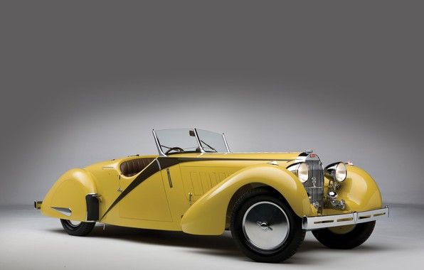 Картинка Bugatti, Фары, Classic, Хром, 1935, Classic car, Gran Turismo, Радиатор, Type 57, Bugatti Type 57 ...