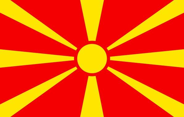 Картинка флаг, red, македония, yellow, fon, flag, makedonija