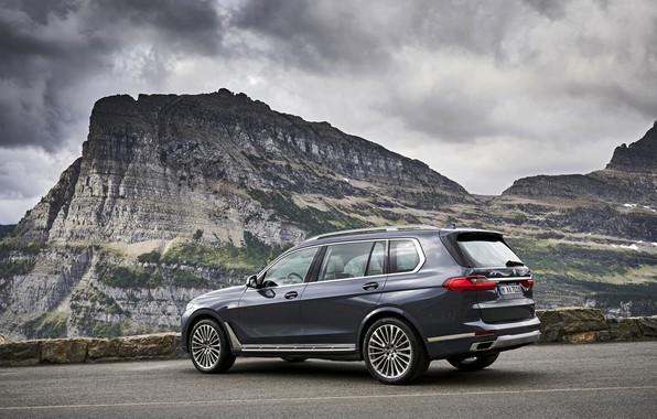 Картинка горы, пасмурно, BMW, 2018, кроссовер, SUV, 2019, BMW X7, X7, G07
