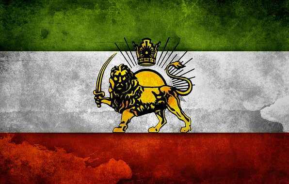 Картинка Sun, Lion, Flag, Iran, Flag Of iran