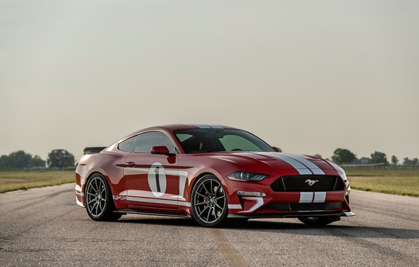 Фото обои Mustang, Ford, 2018, Hennessey, Edition, Heritage, 808 HP