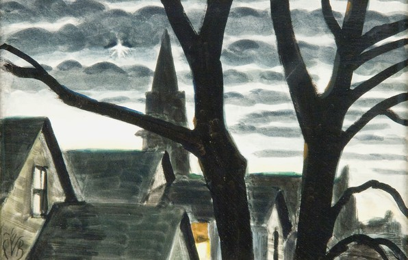 Картинка 1939, Charles Ephraim Burchfield, Christmas Night, The Star