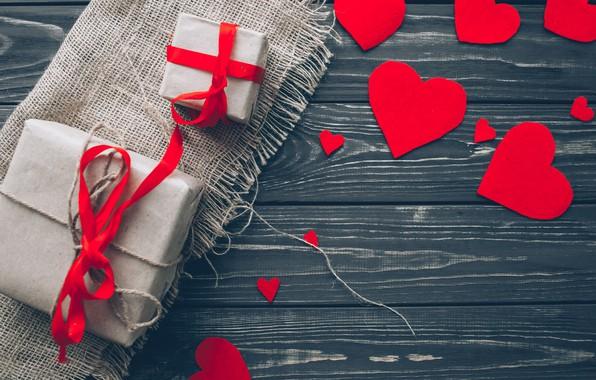 Картинка любовь, подарок, сердце, сердечки, red, love, heart, wood, romantic, valentine's day, gift