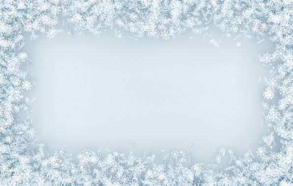 Картинка снег, снежинки, фон, white, christmas, winter, background, snow, snowflakes, frame