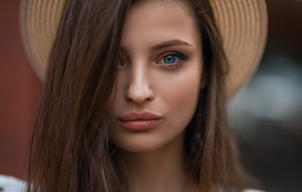 Картинка взгляд, Девушка, шляпа, Дмитрий Шульгин, Вероника Авдеева
