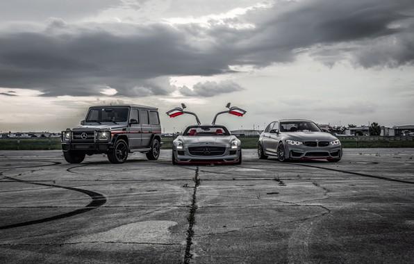 Картинка BMW, Light, Mercedes, SLS, G-Class, F80, Sight, LED