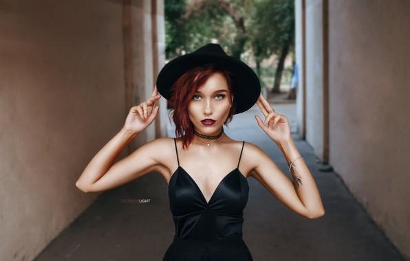 Картинка девушка, шляпка, Alexander Drobkov-Light, Мари Ларина