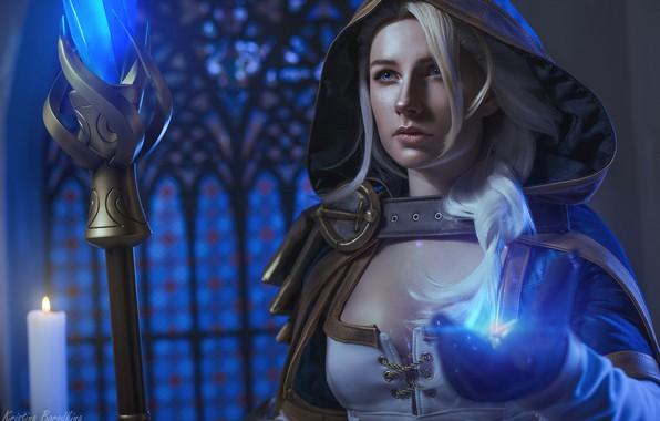 Картинка Warcraft, колдунья, косплей, Jaina Proudmoore, Kristina Borodkina, по мотивам игры