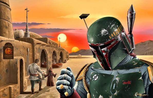 Картинка Star Wars, Boba Fett, охотник за головами, Татуин, Джава