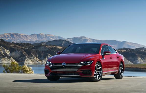 Картинка красный, Volkswagen, на стоянке, лифтбэк, Arteon, 2019, SEL Premium R-Line