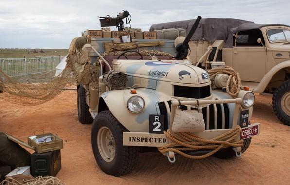 Картинка Chevrolet, автомобиль, British, club, military, боке, historical, wallpaper., частная коллекция ретро, пулеметы два 1-Lewis 1-Vickers, …