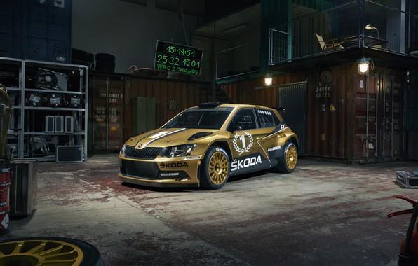 Картинка rally, WRC, skoda, fabia
