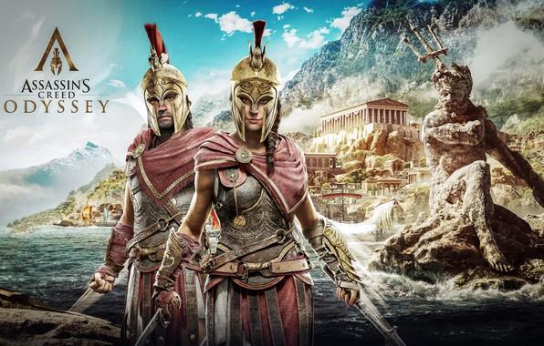 Картинка game, Kassandra, Ubisoft, Assassin's Creed, Odyssey, Assassin's Creed Odyssey, Alexios