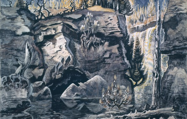 Картинка Solitude, Charles Ephraim Burchfield, 1944-63