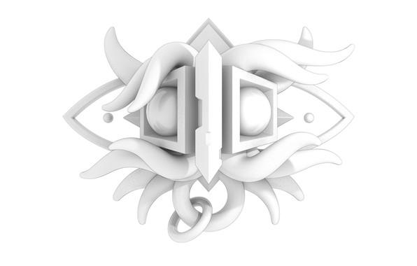 Картинка abstraction, form, monochrom, blender3d, intuitive, 3dart, blenderrender