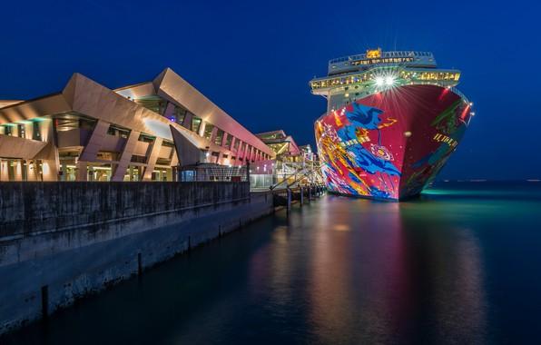 Картинка Singapore, Marina Bay, Cruise Centre, Genting Dream dock
