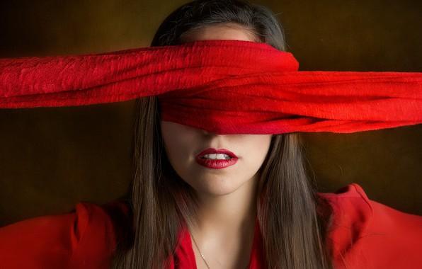 Картинка девушка, фон, повязка