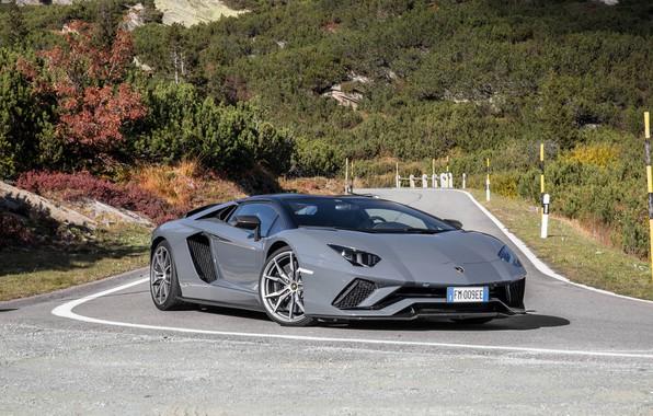 Картинка Lamborghini, Aventador, gray
