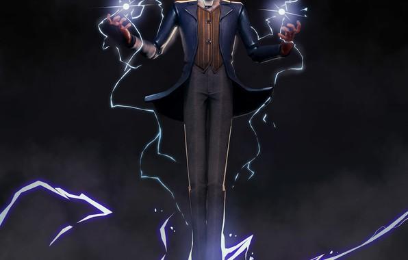 Картинка молния, lightning, power, Tesla, Тесла, физик, Nikola Tesla