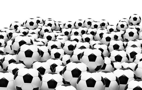 Картинка футбол, мячи, белый фон