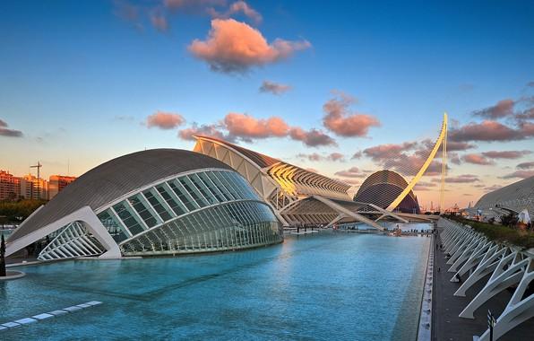 Картинка Испания, Валенсия, архитектурный комплекс, Город искусств и наук