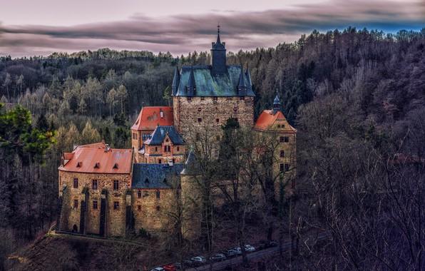 Картинка Германия, Саксония, Замок Крибштайн