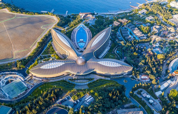 Картинка море, побережье, здание, панорама, Россия, архитектура, Крым, Ялта, Чёрное море, Оползневое, Mriya Resort & Spa, …