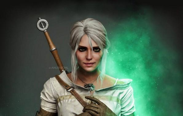 Картинка Меч, Sword, The Witcher 3 Wild Hunt, Ведьмак 3 Дикая Охота, Ласточка, Цири, Zirael, Cirilla …