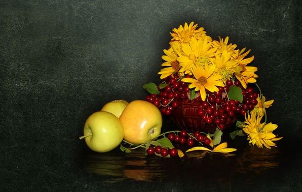 Картинка природа, настроение, яблоки, красота, красивые, beautiful, beauty, harmony, обои на рабочий стол, cool, bouquet, nice, ...