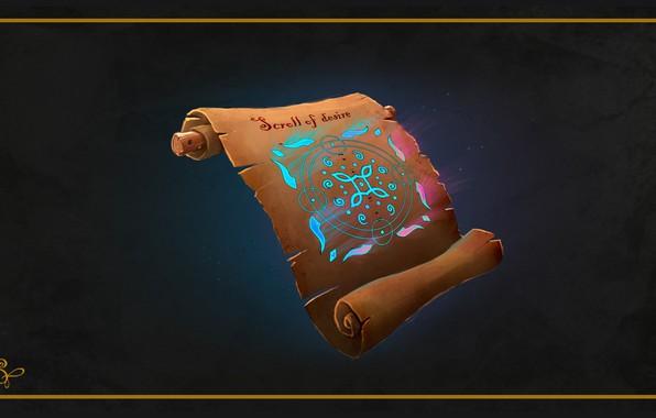 Картинка магия, фэнтези, арт, манускрипт, Serg Tsvelykh, Magic scroll