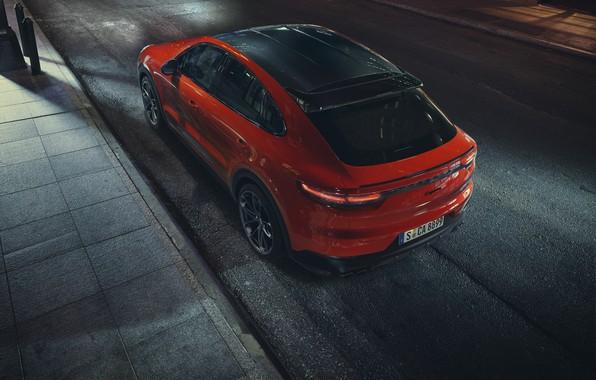 Картинка Porsche, Orange, Купе, Coupé, Cayenne Turbo, Схади, Оранжеквый
