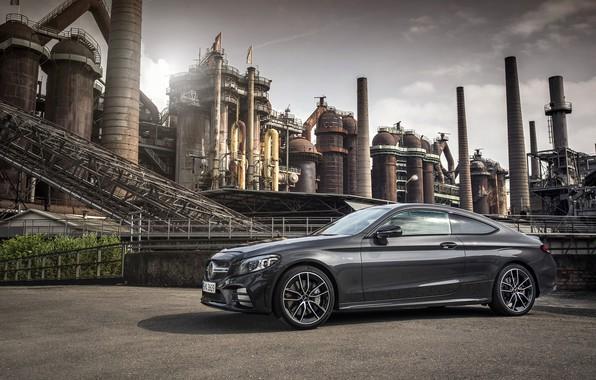 Картинка купе, Mercedes - Benz, 2018, Мерседес-Бенц, Mercedes-AMG C 43 4MATIC Coupé, graphite grey metallic