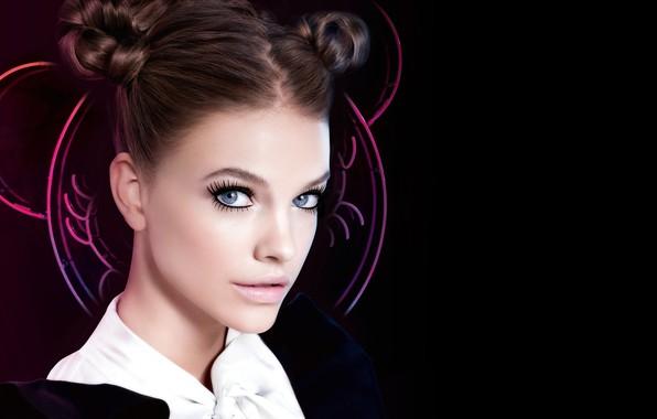 Картинка взгляд, девушка, лицо, модель, макияж, красивая, Barbara Palvin, Лореаль