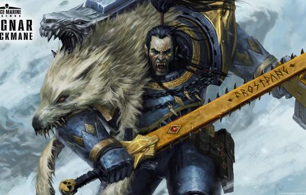 Картинка space marine, space wolves, Warhammer 40 000, Ragnar Blackmane