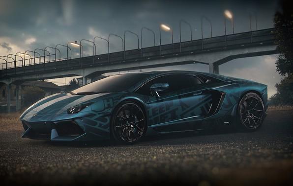 Картинка Авто, Lamborghini, Машина, Car, Render, Design, Суперкар, Aventador, Lamborghini Aventador, Supercar, Спорткар, Sportcar, Transport & …