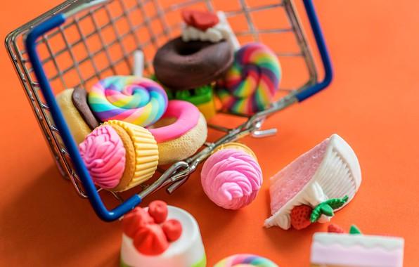 Картинка игрушки, сладости, леденец, корзинка