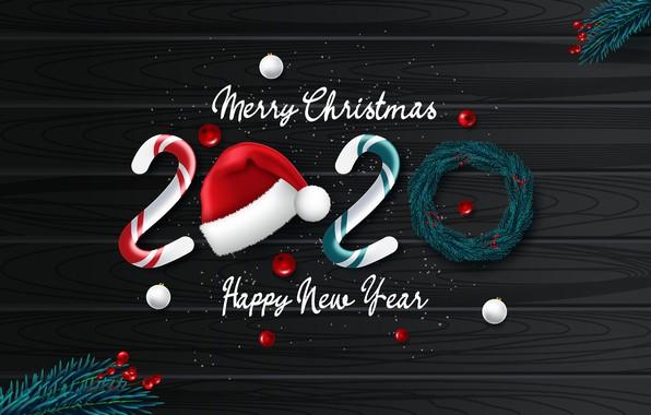 Картинка фото, Новый год, 2020, Шапки, Векторная графика, Леденцы