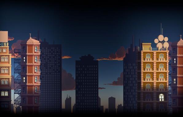 Картинка город, небоскреб, дома, высотка