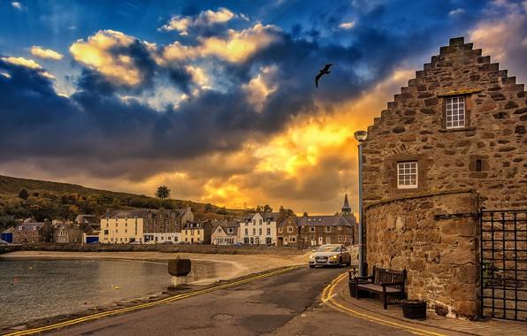 Картинка вечер, Шотландия, Стонхейвен